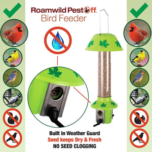 Roamwild PestOff Mixed Seed Squirrel Proof Bird Feeder - Maple Leaf Design