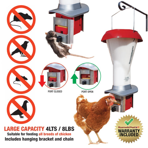 1# - PestOff Poultry Feeder Kit - Rat & Pest Proof Chicken Feeder – Weather Proof - 8.00lbs - New Product