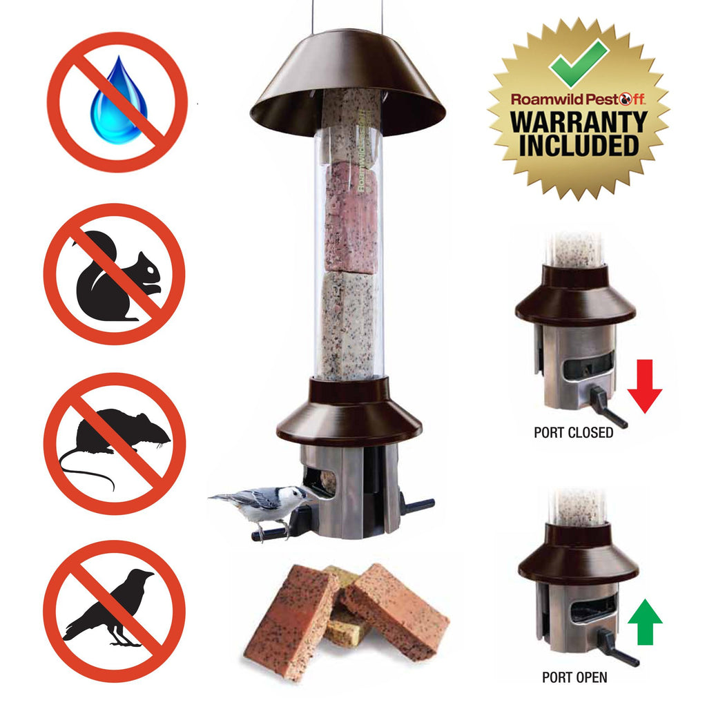 Roamwild PestOff Squirrel Proof Bird Feeder Suet Cake / Suet Ball / Fat Ball Bird Feeder
