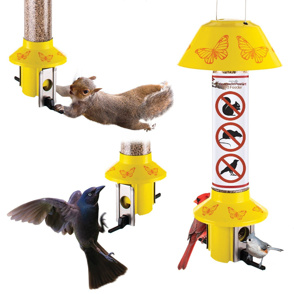 Roamwild PestOff Mixed Seed Squirrel Proof Bird Feeder - Butterfly Design