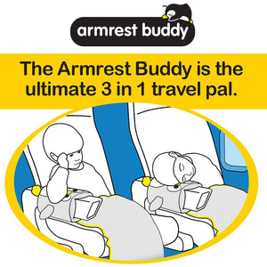 Roamwild Armrest Buddy Travel Pillow & Blanket - Transforms Any Armrest Into a Comfy Pillow