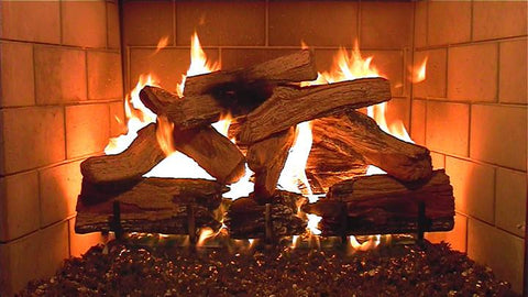 Plasmavironments DVD - Fireplace, Waterfall, Ocean all with sound
