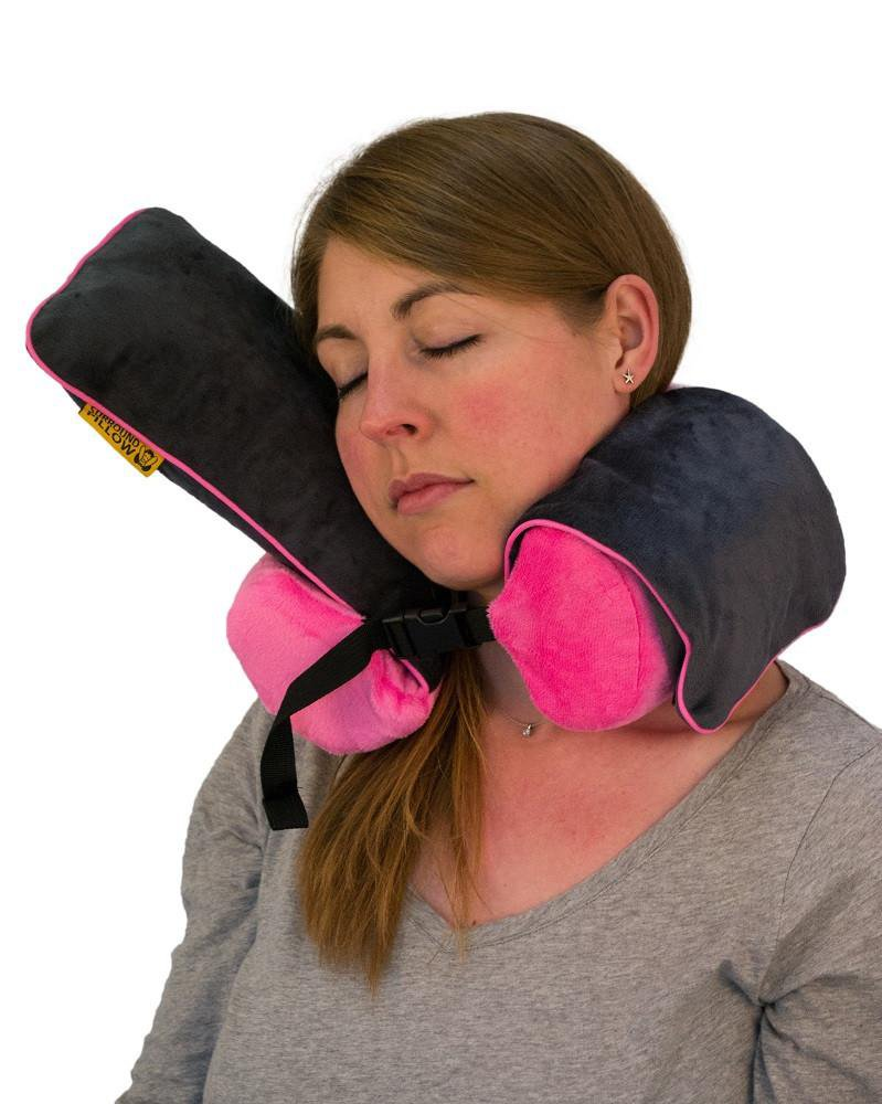 Roamwild Surround Travel Pillow - Pink & Gray