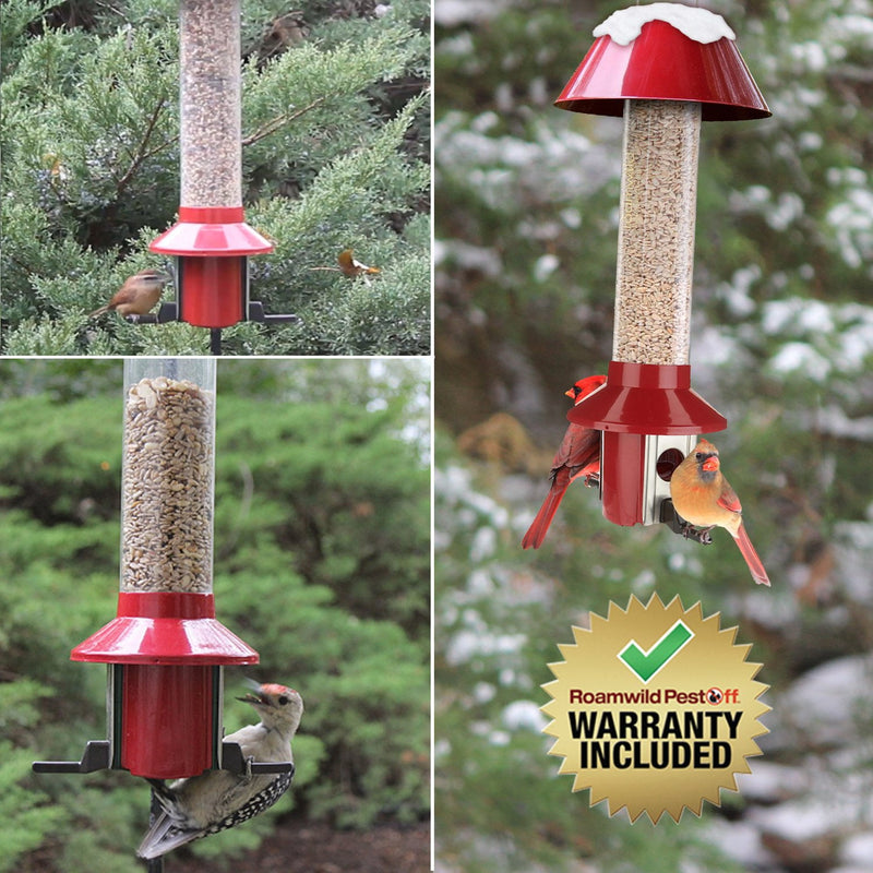 Roamwild PestOff Mixed Seed Squirrel Proof Bird Feeder