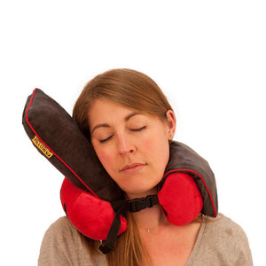 Roamwild Surround Travel Pillow - Red & Gray