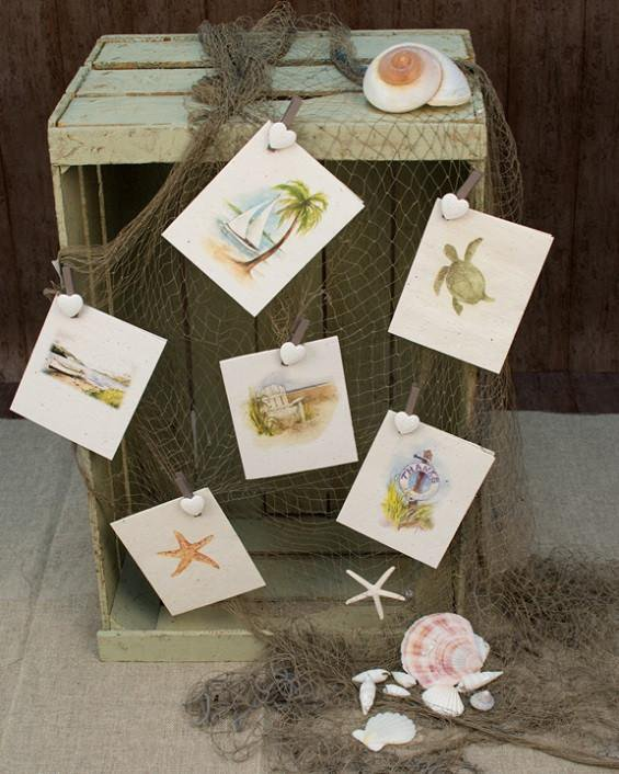 Plant-it-cards - Pack of 6 - Sea & beach themed greetings cards