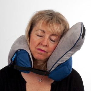 Roamwild Surround Travel Pillow - Navy & Gray