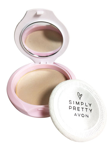 Avon Simply Pretty Shine No More Pressed Powder (Almond)
