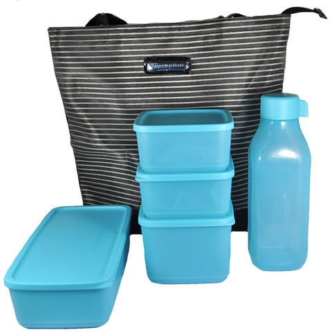 Tupperware Fridge Set 5 pcs. with Mesh Bag