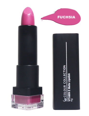 Colour Collection Vitamin E Matte + Sunscreen (Fuchsia 02)
