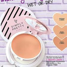 Avon Simply Pretty Smooth & White Dual Powder Foundation SPF 24/PA 10g