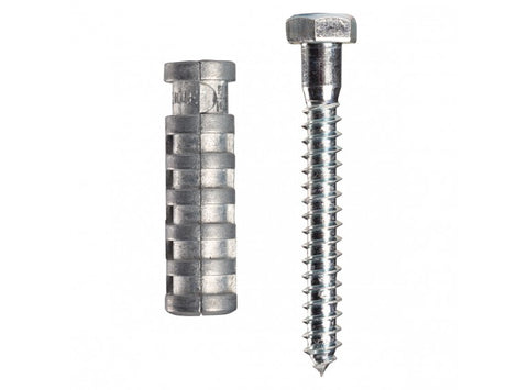 "VB Expansion Shield  Lag.1/4"" x 1/2"" Hole x 1"" Length with Screw"