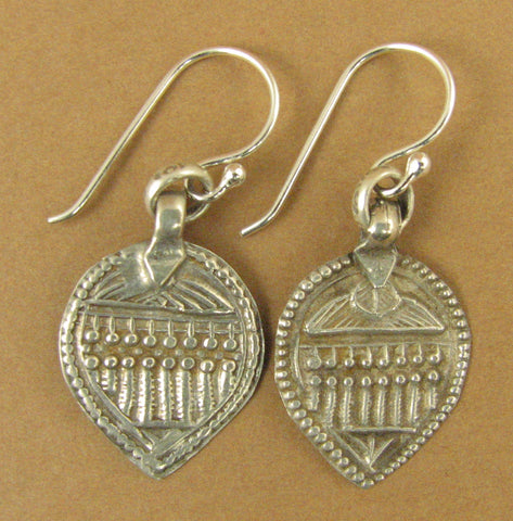 Indian tribal silver earrings. Old/antique. 7 sisters. Sterling silver 925