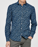 LENNOX CUT AWAY INDIGO SHIRT