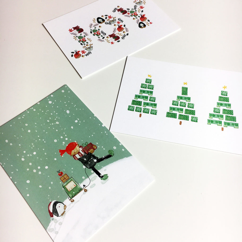 Holiday Postcard Pack, 6 cards