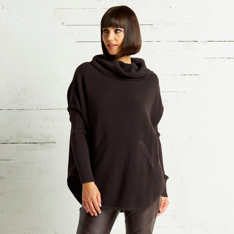 Pima cotton cowl sweater, by Planet