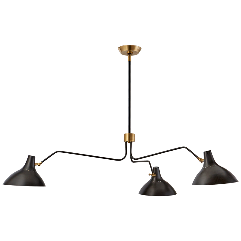 Charlton Large Triple Arm Chandelier