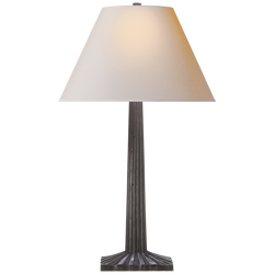 Strie Fluted Column Table Lamp