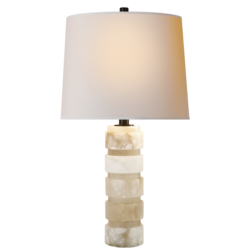 Round Chunky Stacked Table Lamp
