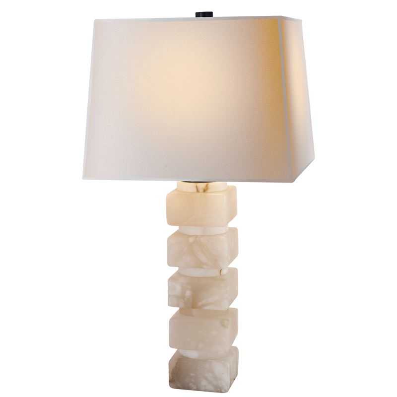 Square Chunky Stacked Table Lamp