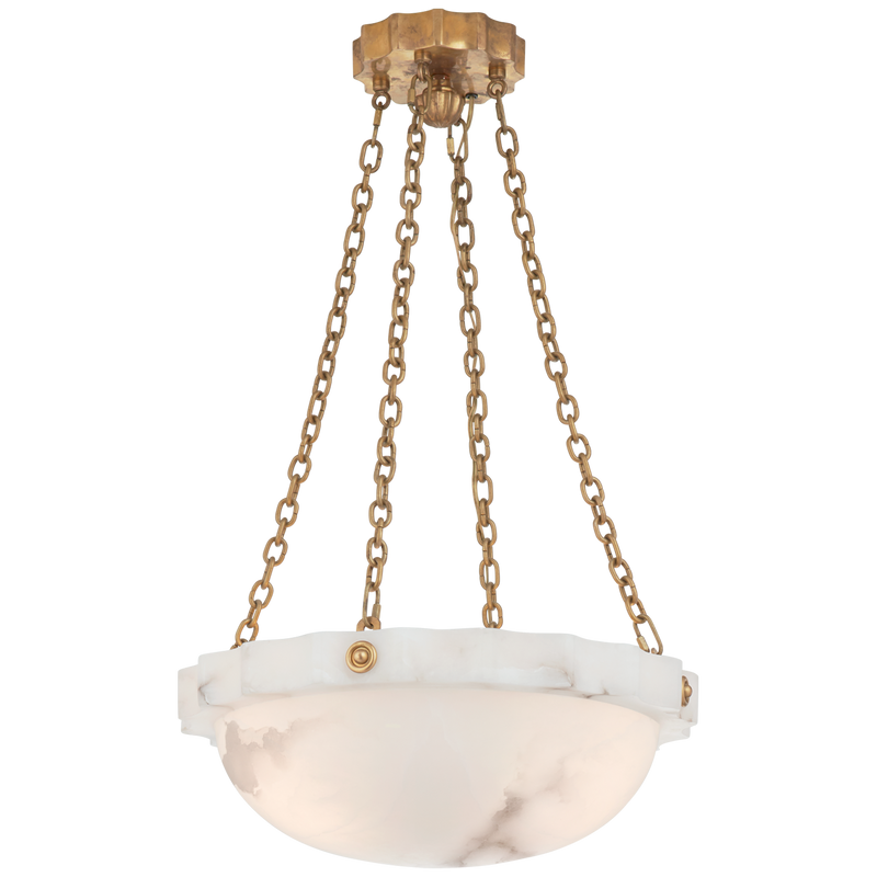 Fluted Band Medium Chandelier