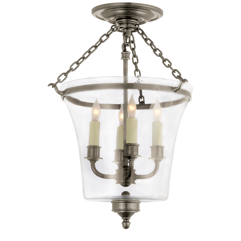 Sussex Semi-Flush Bell Jar Lantern