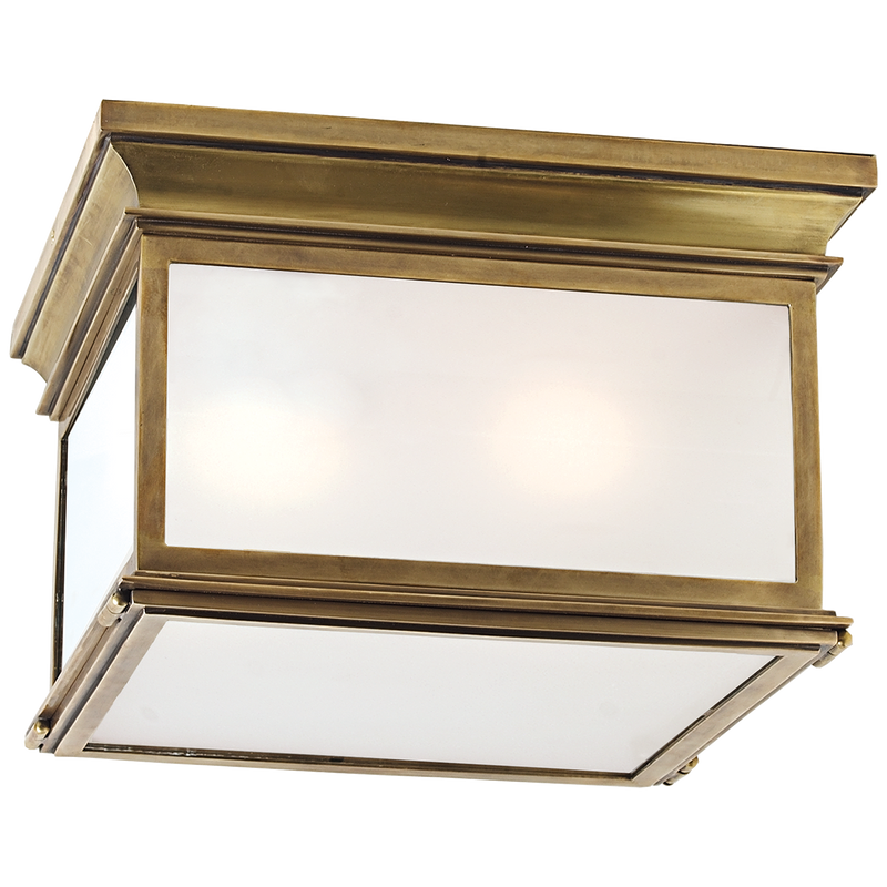 Club Large Square Flush Mount