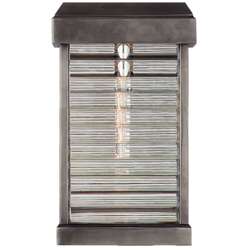 Dunmore Small Curved Glass Louver Sconce