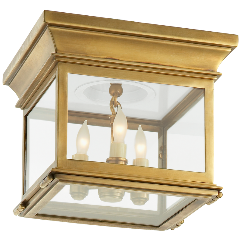 Club Small Square Flush Mount