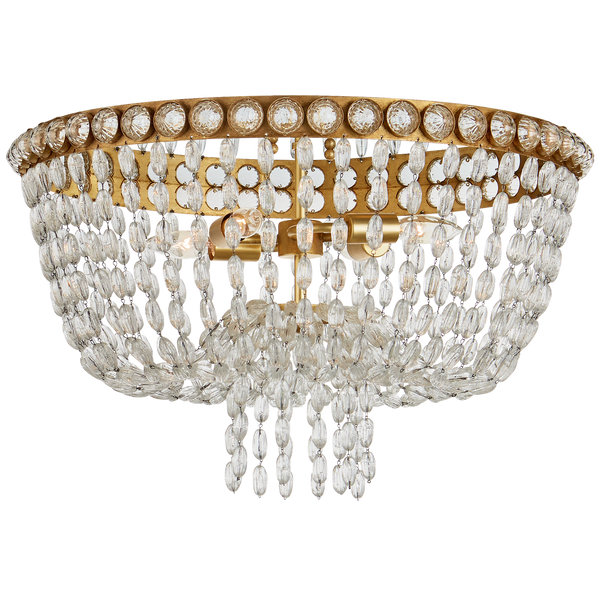 Navona Large Basket Flush Mount