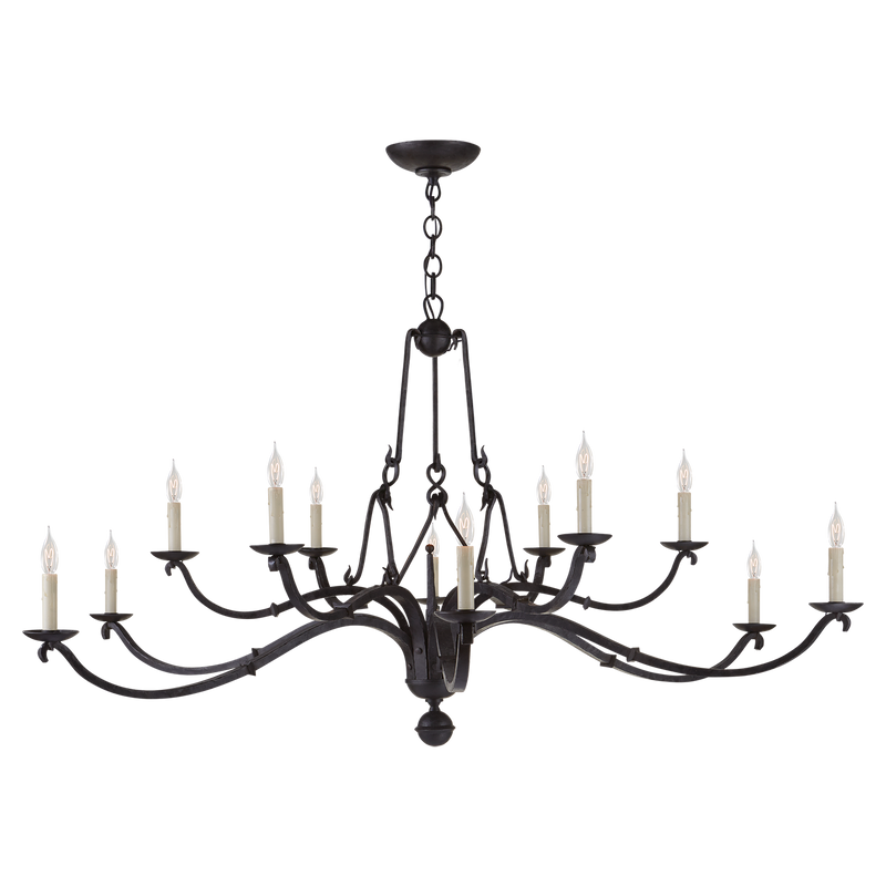 Allegra Large Two-Tiered Chandelier