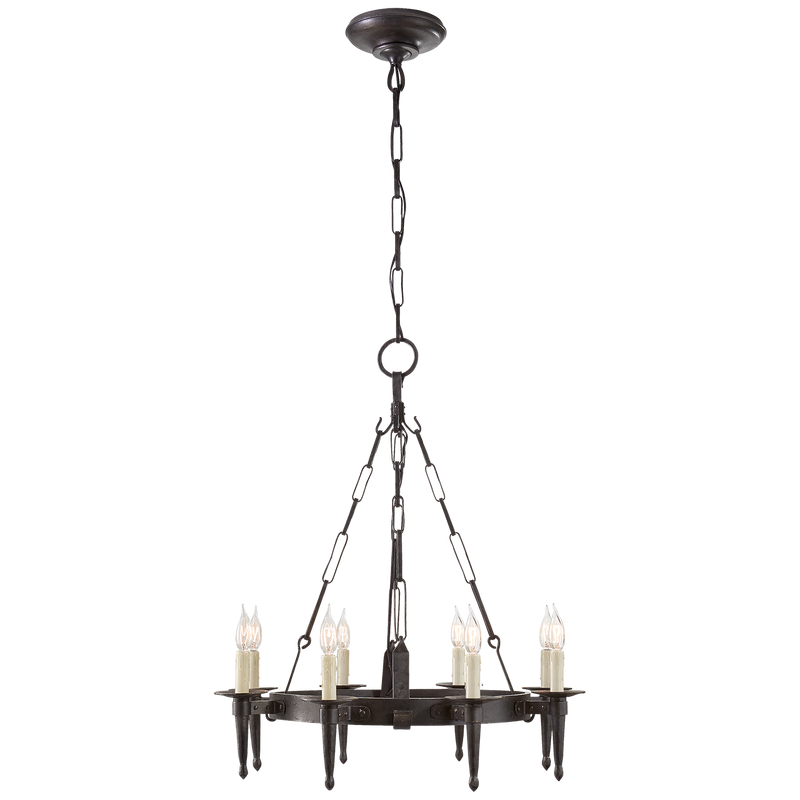 Branson Small One-Tier Ring Torch Chandelier