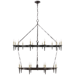 Branson Large Two-Tier Ring Torch Chandelier