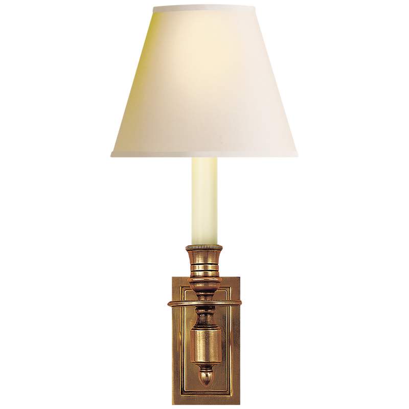 French Single Library Sconce