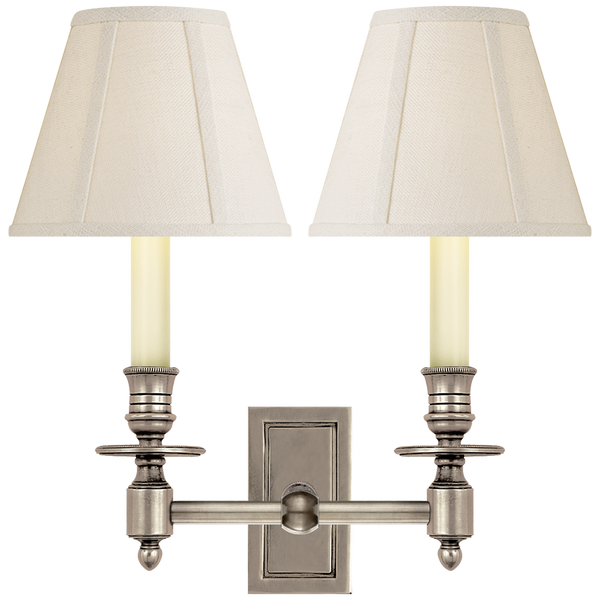 French Double Library Sconce