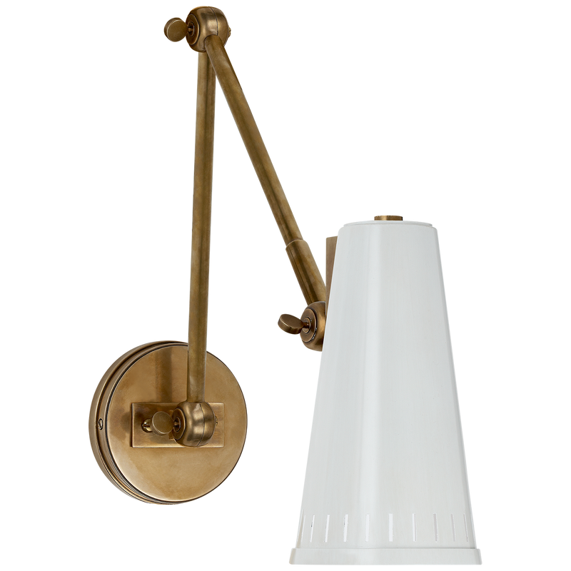 Antonio Adjustable Two Arm Wall Lamp