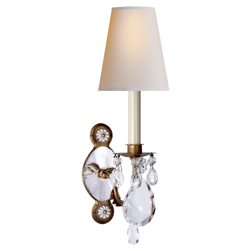 Yves Crystal Single Arm Sconce