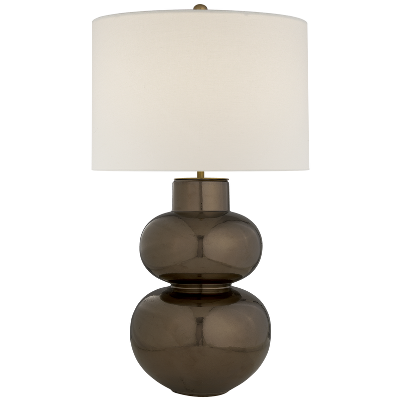 Merlat Table Lamp in Burnt Gold with Linen Shade