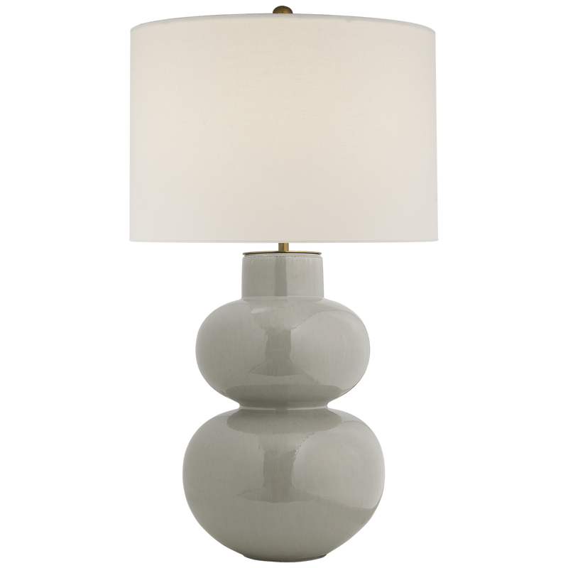 Merlat Table Lamp in Shellish Gray with Linen Shade
