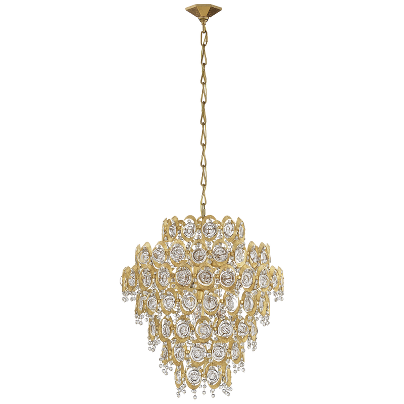 Emile Large Pendant in Gild with Crystal