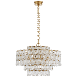 Liscia Chandelier in Gild with Crystal