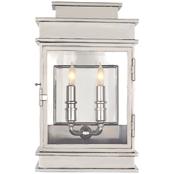 Linear Lantern Short in Polished Nickel