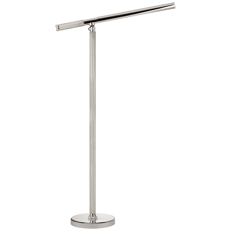 Barrett Knurled Boom Arm Floor Light