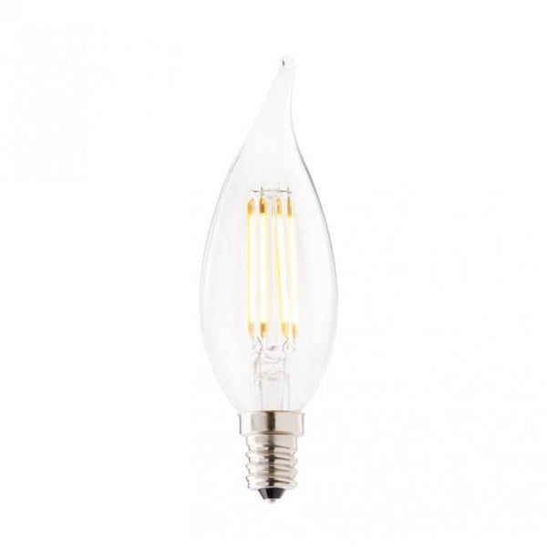 Emery Allen 5 Watt C10 Filament Miniature Warm White LED Bulb - 2700K - 500 Lumens - 120V