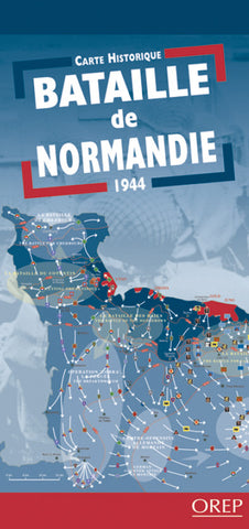 Battle of Normandy Historical Map / Bataille de Normandie Carte Historique