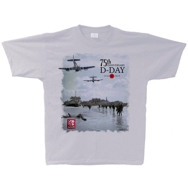 D-Day 75th Anniversary Liquid Silver Adult T-Shirt