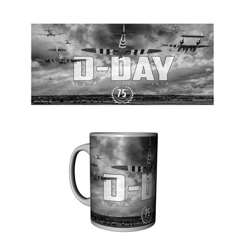 D-Day 75th Anniversary Black and white Ceramic Mug