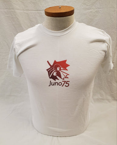 Juno 75 T Shirt, Red on White