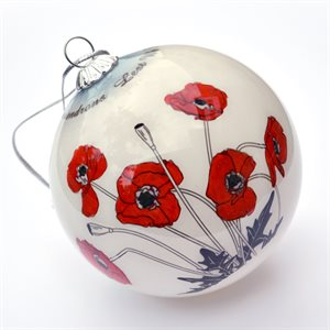 POPPY CHRISTMAS ORNAMENT WITH STORAGE CASE