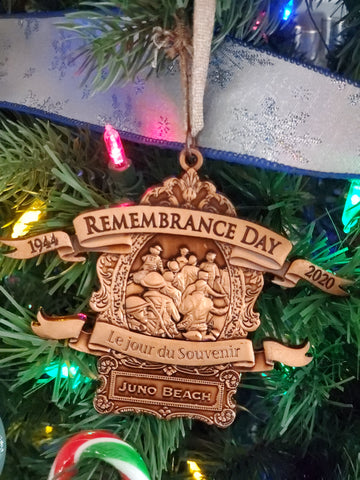 Commemorative Remembrance Day Bronze Christmas Ornament